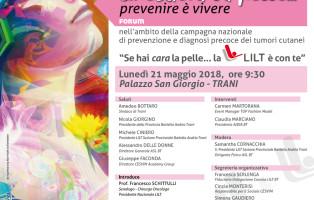 Ultimissimo Web-16.05.'18 - Forum - LILT BT - Questione di pelle ...