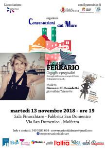 Conversazioni-dal-mare Tiziana Ferrario  serale 13 novembre molfetta web