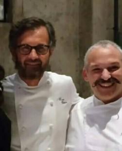 Pascal Barbato e Carlo Cracco
