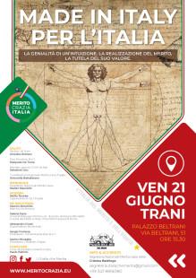 Loc MADE IN ITALY PER L'ITALIA, Palazzo delle Arti Beltrani- Trani 21 giugno