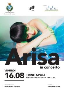 Loc. Arisa in concerto a Trinitapoli, 16 agosto ore 21, ingresso gratuito