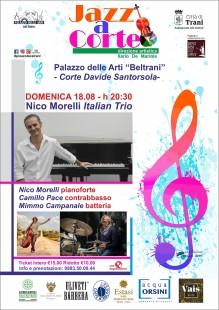 Loc. Festival Jazz a Corte, 18 agosto Nico Morelli Trio, ore 20,30