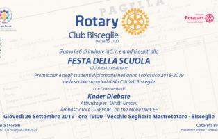 Invito Festa della Scuola Rotary  Bisceglie 2019