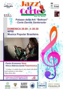 Loc. Jazz a Corte, 29 settembre, Paola Arnesano e Vince Abbracciante