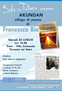 Presentazione di AKUNDAN di Francesco Bia_ a cura di Silvia Tolomeo