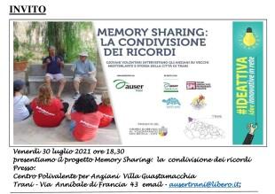 Invito conferenza stampa Memory Sharing