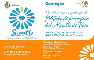Invito convegno Politiche di promozione sul Moscato diTrani, 1 agosto, Cassa Armonica Villa Comunale, ore 18,30